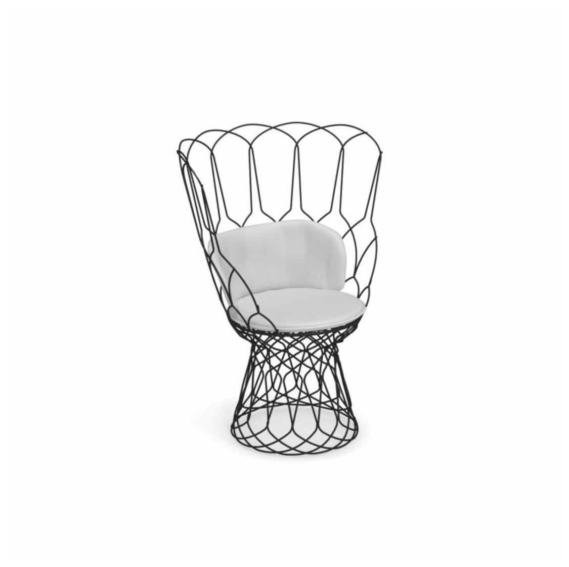 Re Trouve Armchair by Emu DeFrae Contract Furniture Black with cushion