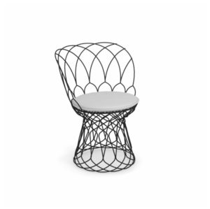 Re Trouve Side Chair by Emu DeFrae Contract Furniture Black with cushion