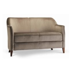 Rush 2 seater sofa with classic legs at DeFrae Contract Furniture