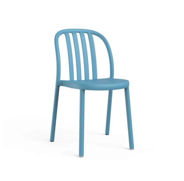 Susie Outdoor Side Chair DeFrae Contract Furniture Blue