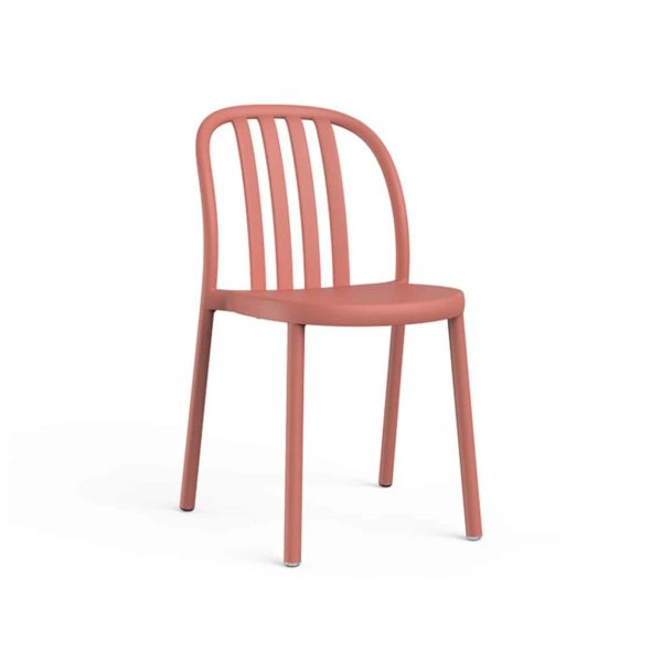 Susie Outdoor Side Chair DeFrae Contract Furniture Pink