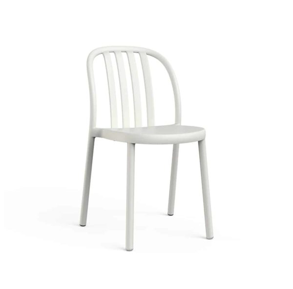Susie Outdoor Side Chair DeFrae Contract Furniture White