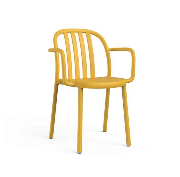 Susie Outdoor Armchair DeFrae Contract Furniture Mutard Yellow