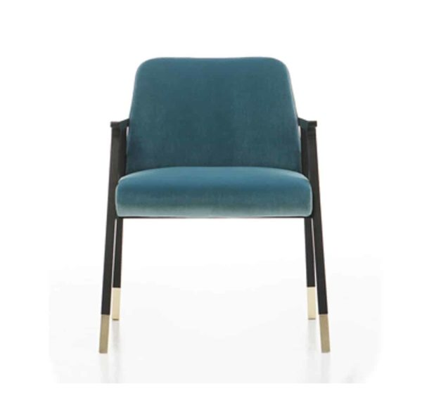 Tennesse Armchair Tenues 2302 Pro Cizeta Available From DeFrae Contract Furniture Blue Front
