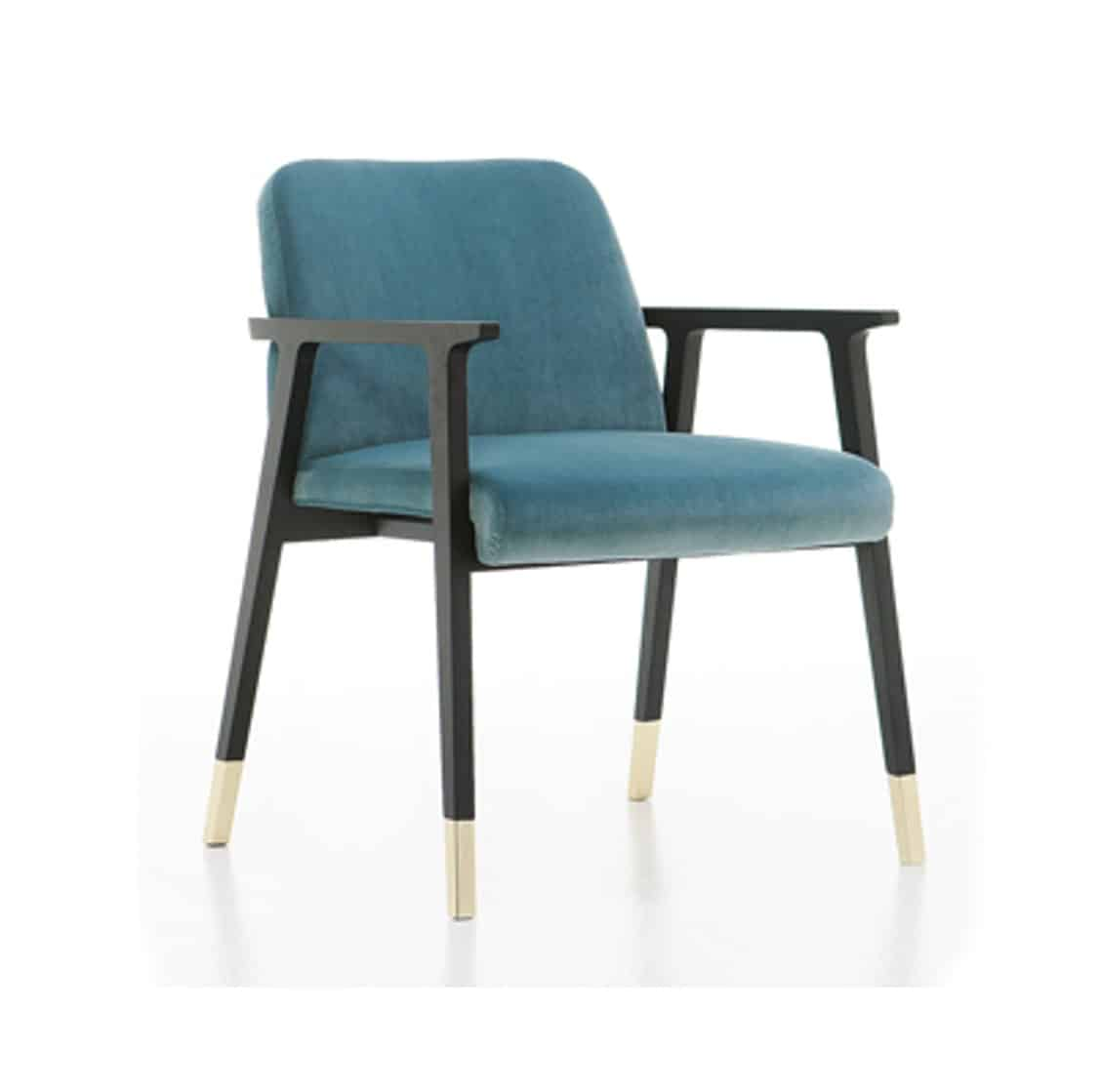 Tennesse Armchair Tenues 2302 Pro Cizeta Available From DeFrae Contract Furniture Blue