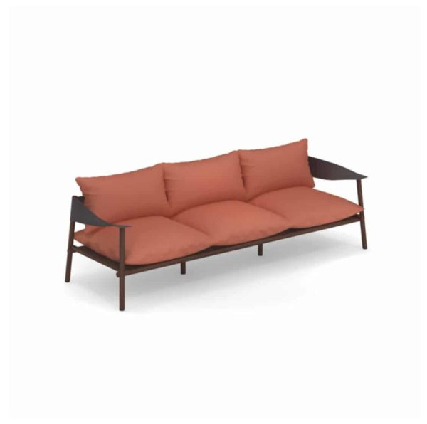 Terramera 3 seater Sofa from Emu available from DeFrae Contract Furniture London Burnt Orange