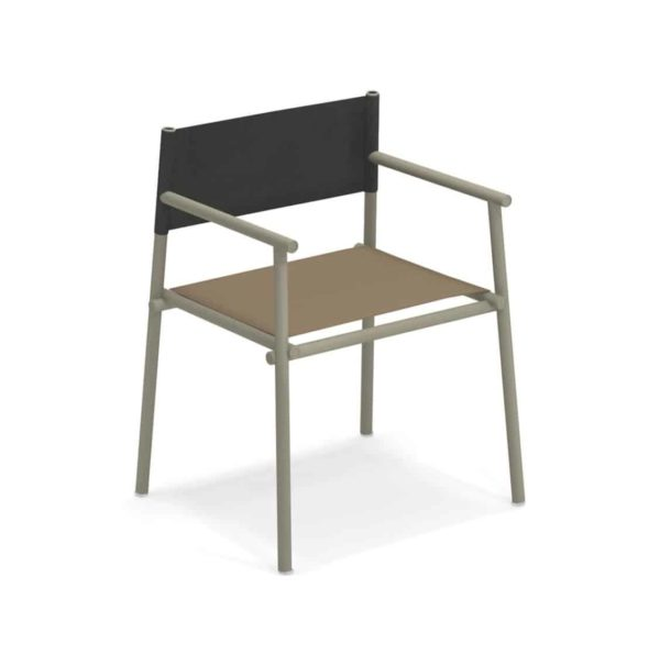 Terramera Armchair from Emu available from DeFrae Contract Furniture London Brown and Black
