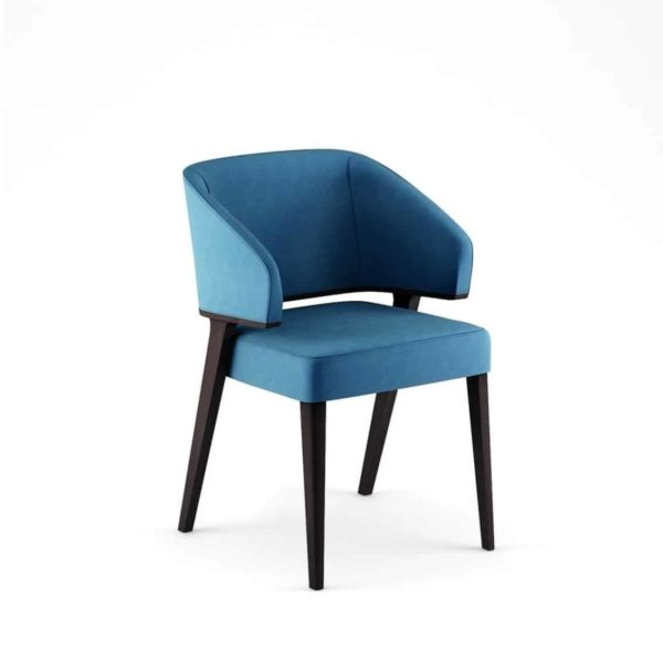 Tiempo Armchair Time Accento DeFrae Contract Furniture Blue