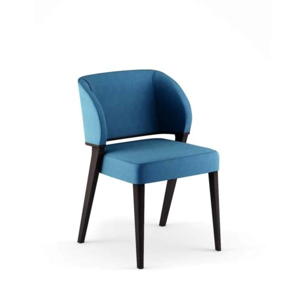 Tiempo Side Chair Time Accento DeFrae Contract Furniture Blue