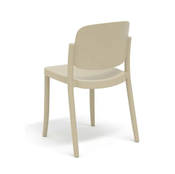 Torrington side chair Piazza Colos available at DeFrae Contract Furniture Tan Beige