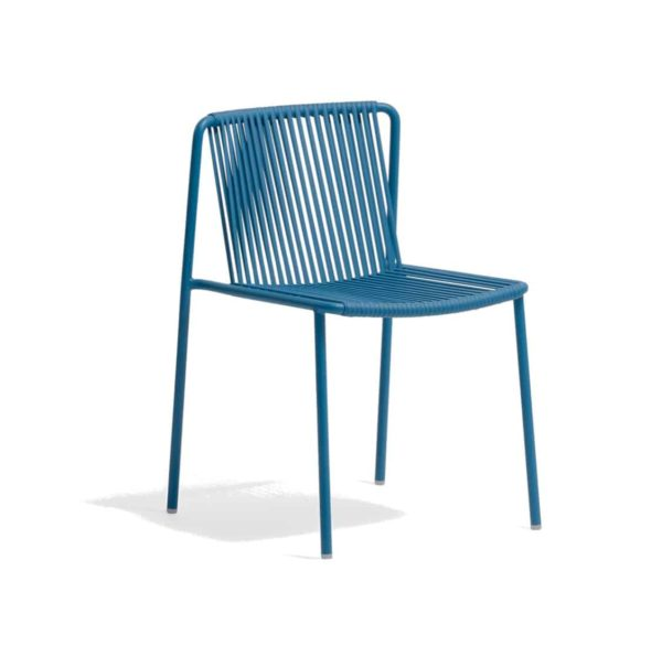 Tribeca Side Chair Pedrali available from DeFrae Contract Furniture Outside Chair Blue