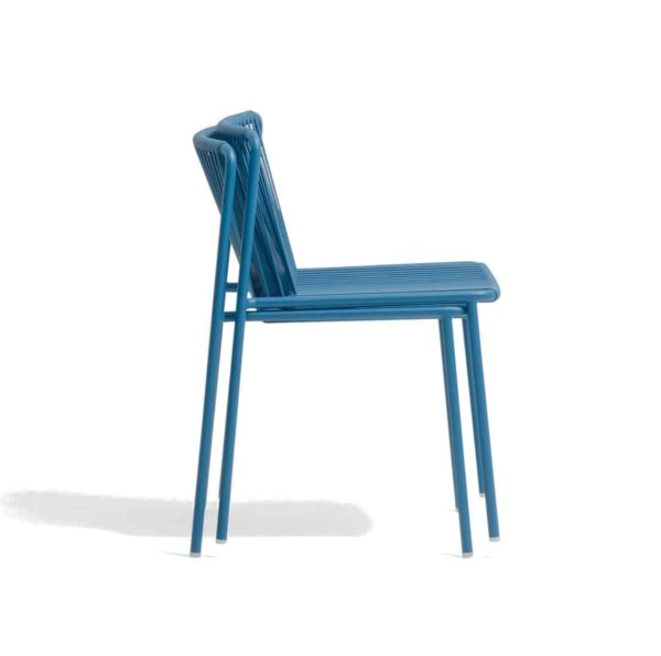 Tribeca Side Chair Pedrali available from DeFrae Contract Furniture Outside Chair Blue Stackable