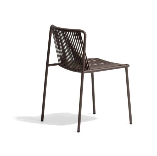 Tribeca Side Chair Pedrali available from DeFrae Contract Furniture Outside Chair Brown Stackable