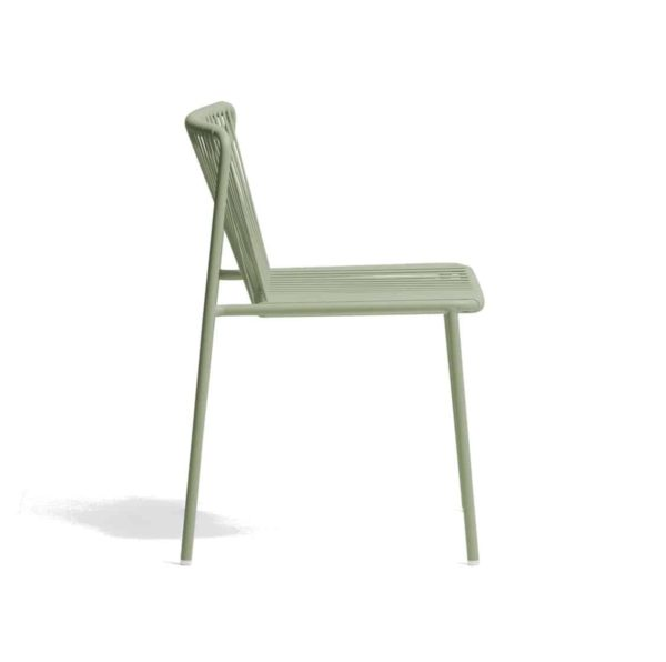Tribeca Side Chair Pedrali available from DeFrae Contract Furniture Outside Chair Green Side On View]