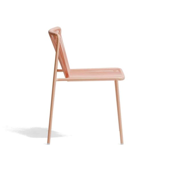 Tribeca Side Chair Pedrali available from DeFrae Contract Furniture Outside Chair Pink