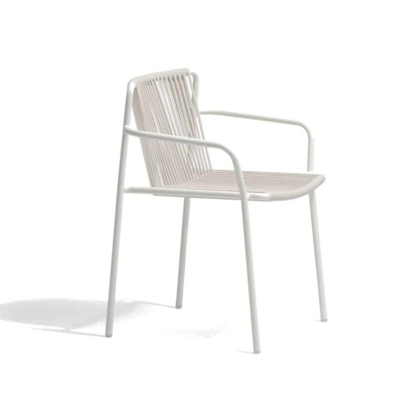 Tribeca armchair Pedrali available from DeFrae Contract Furniture Outside Chair Cream