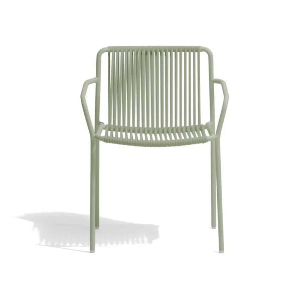Tribeca armchair Pedrali available from DeFrae Contract Furniture Outside Chair Green