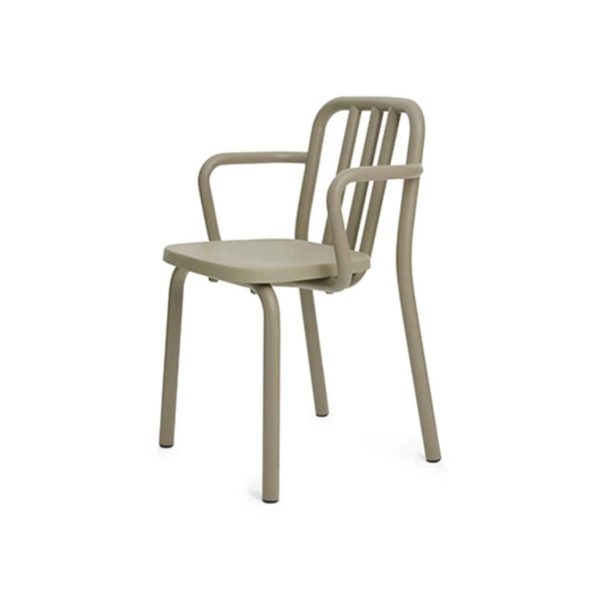 Tube armchair available at DeFrae Contract Furniture beige tan