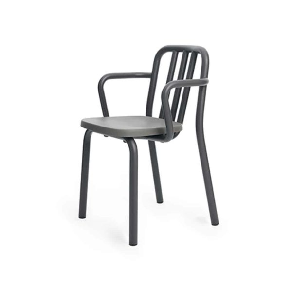 Tube armchair available at DeFrae Contract Furniture charcoal grey