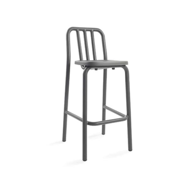 Tube bar stool available at DeFrae Contract Furniture anthracite charcoal grey