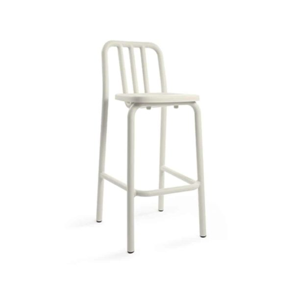 Tube bar stool available at DeFrae Contract Furniture cream