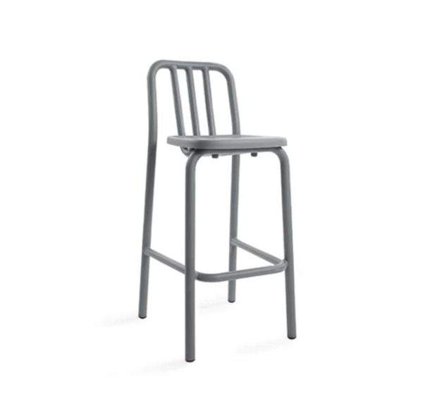 Tube bar stool available at DeFrae Contract Furniture grey