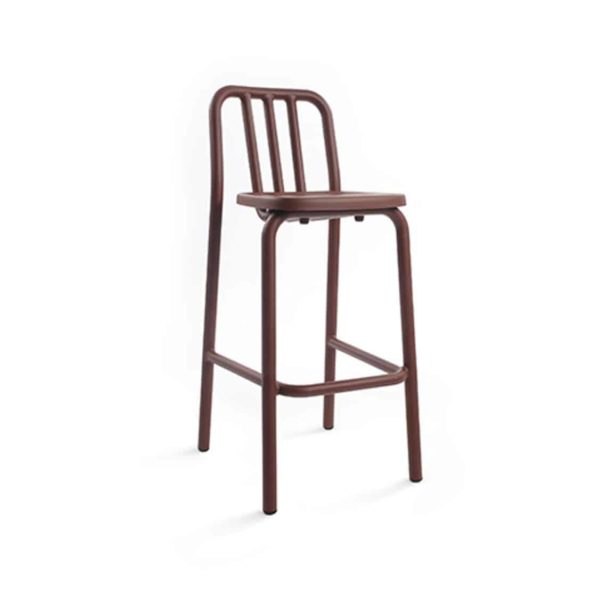 Tube bar stool available at DeFrae Contract Furniture red