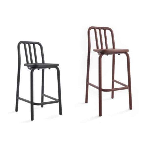 Tube bar stool available at DeFrae Contract Furniture sizes
