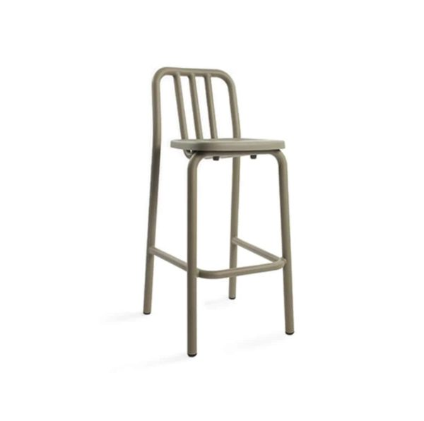Tube bar stool available at DeFrae Contract Furniture tan beige