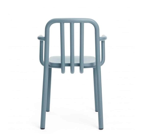 Tube side chair available at DeFrae Contract Furniture Mobles114