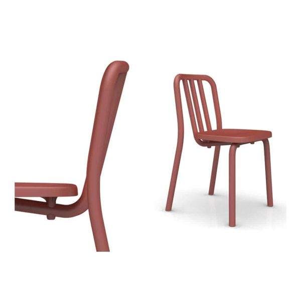 Tube side chair available at DeFrae Contract Furniture Black Mobles114