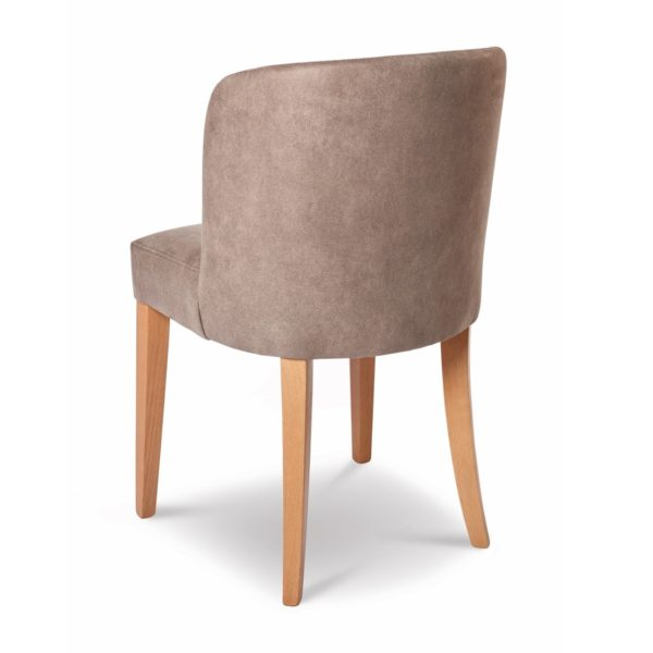 Valencia Side Chair Uphosltered With Wooden Frame DeFrae Contract Furniture Back View