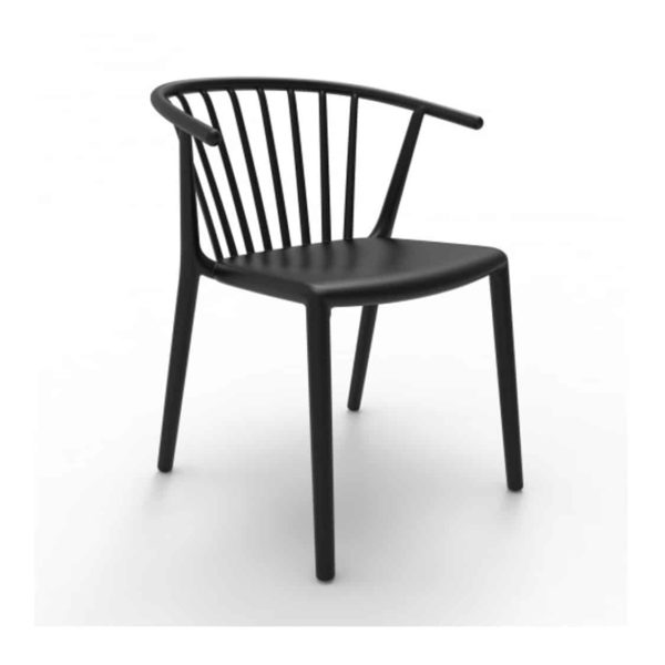 Wilson woody chair spindle back from DeFrae Contract Furniture Black