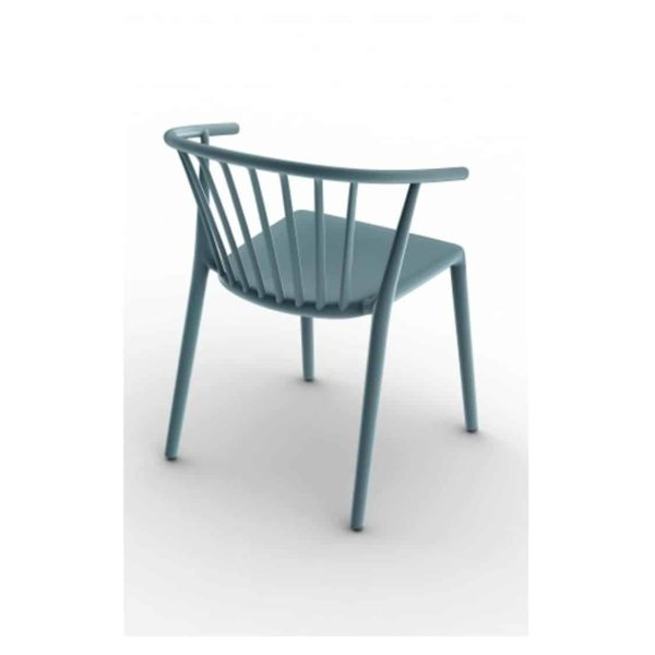 Wilson woody chair spindle back from DeFrae Contract Furniture Blue