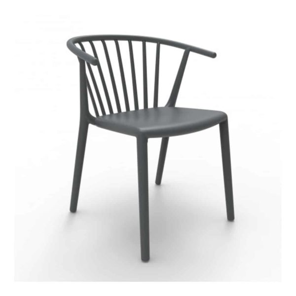 Wilson woody chair spindle back from DeFrae Contract Furniture Charcoal Grey
