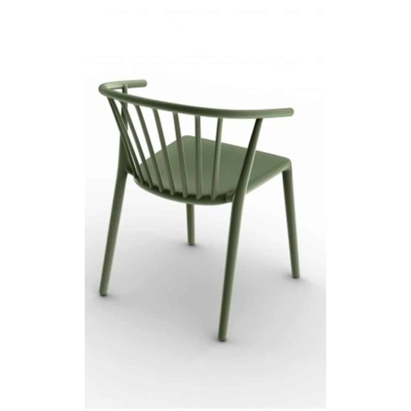 Wilson woody chair spindle back from DeFrae Contract Furniture Green
