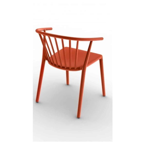 Wilson woody chair spindle back from DeFrae Contract Furniture Red