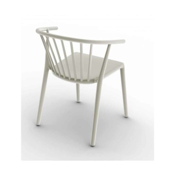 Wilson woody chair spindle back from DeFrae Contract Furniture White