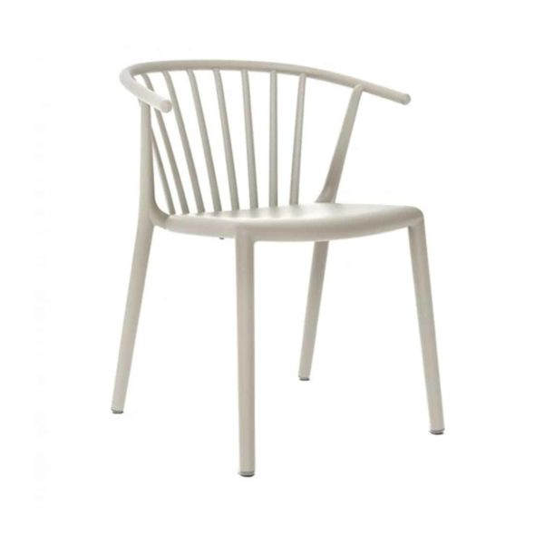 Wilson woody chair spindle back from DeFrae Contract Furniture White Front