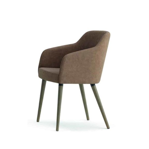 Yvonne Armchairs From DeFrae Contract Furniture Brown With Wooden Frames
