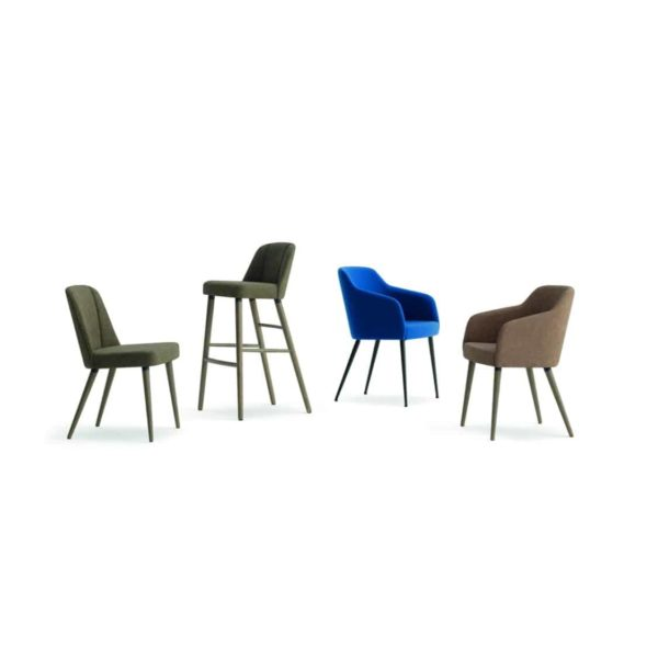 Yvonne Side Chair Armchairs and Bar Stool From DeFrae Contract Furniture