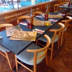 Zinc Tabletops Metal & Industrial Tables DeFrae Contract Furniture Restaurant Tables Round