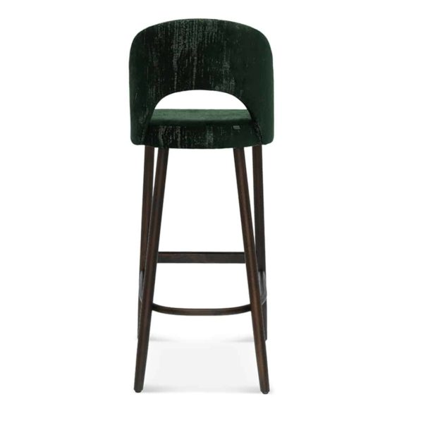 Alora Bar Stool Open Curved Back DeFrae Contract Furniture