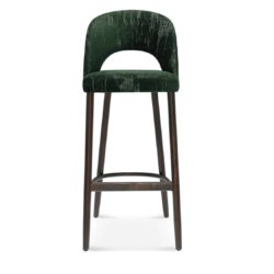 Alora Bar Stool Open Half Moon Back DeFrae Contract Furniture Head On View