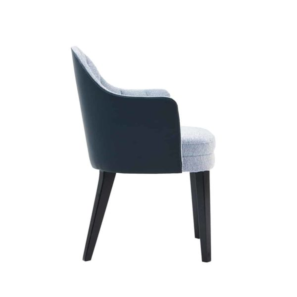 Corbetti Armchair Fluted Back X8 at DeFrae Contract Furniture Side View