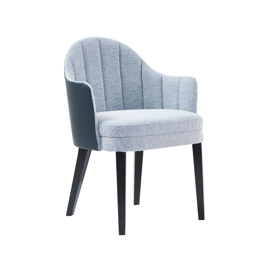 Corbetti Armchair Fluted Back X8 at DeFrae Contract Furniture Side on