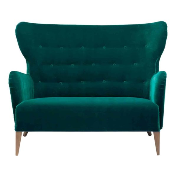 Duke Sofa ContractIn at DeFrae Contract Furniture Button Back Green Velvet