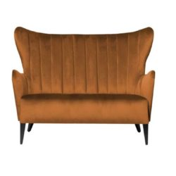 Duke Sofa ContractIn at DeFrae Contract Furniture Fluted Back Rust Velvet