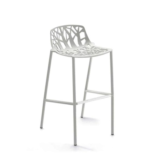 Forest Low Back Bar Stool available at DeFrae Contract Furniture White