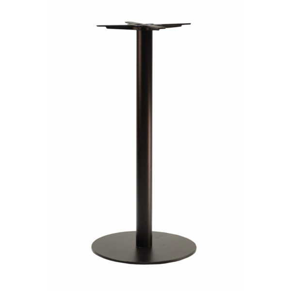 Forza round cast iron table base black Poseur height